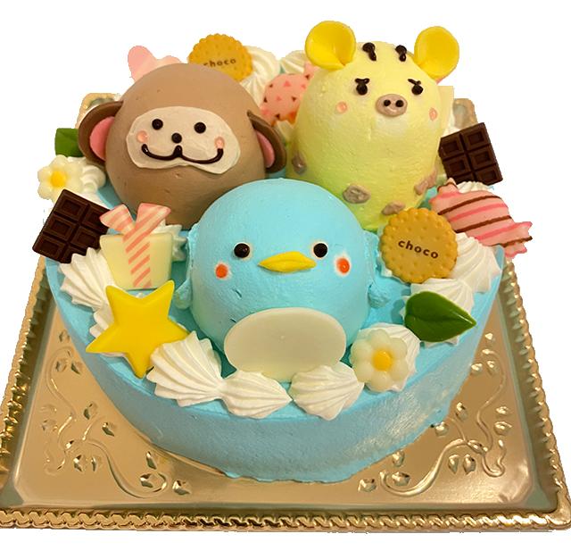 人気のどうぶつさんケーキがホールケーキになって登場
